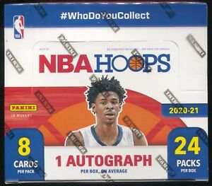 2020-21 PANINI NBA HOOPS BASKETBALL CARDS FACTORY SEALED 24 PACK RETAIL BOX QTY