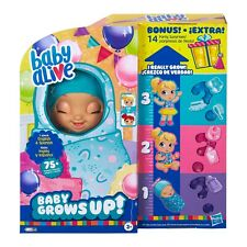 BABY ALIVE BABY GROWS UP + BONUS PACK DOLL HAPPY HOPE OR MERRY MEADOW NEW IN BOX