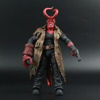 "Mezco Hellboy Battle Damaged HB 7"" Action Figure Exclusive 1/12 Scale Toy Gift"