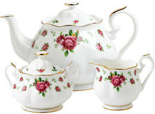 ROYAL ALBERT NEW COUNTRY ROSES (WHITE) 3 PIECE TEAPOT SET - BRAND NEW/BOXED