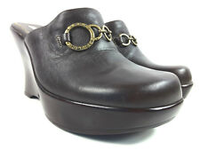 Tommy Girl Hilfiger Women's Mules Wedge Platform Leather Size 6