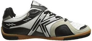 Kelme Star 360 Michelin Mens Leather Indoor Soccer Shoes White / Black