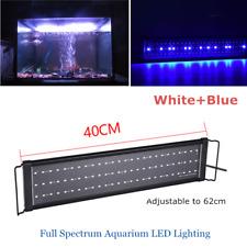 Aquarium Fish Tank LED Over Tank LED Light Lamp Adjustable White Blue 40cm-62cm