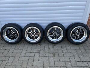 Genuine Ford Escort RS2000 Alloy Wheels/Nankang Tyres Mk1 Mk2 Fiesta - Ex Cond