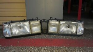 Volvo 760 940 960 Driver & Passenger Headlight Assemblies - **New Turn Signals**