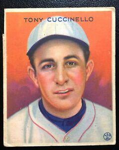 ORIGINAL 1933 Goudey #99 Tony Cuccinello Dodgers