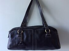 MARKS & SPENCER AUTOGRAPH real leather ladies black slouchy underarm shoulderbag