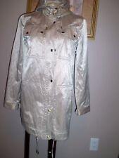 MICHAEL KORS HOODED RAIN COAT KHAKI WITH SHEEN WASHABLE SIZE S