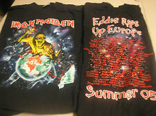 IRON MAIDEN- Europe Festival  MENS XLarge T-SHIRT q