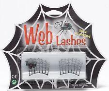 Silver Spider Web cils Self Adhésif Eye Lash Déguisement Adulte Neuf P5738