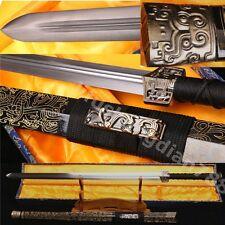 42' Sharp Carbon Steel Sharp Full Tang Wood Chinese Han Sword Nice Pattern (汉剑)