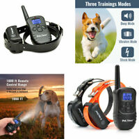 Rechargeable Dog Shock Training Collar LCD Waterproof Remote Control  for 1 or 2
