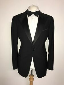 ARMANI Collezioni - Mens WOOL & MOHAIR DINNER SUIT - 44 Short - W36 L29 - TUXEDO