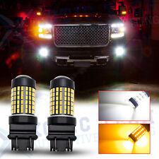 For GMC Sierra 1500 2500 HD 99-13 White Amber Switchback LED Turn Signal Light
