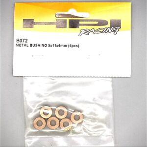 RC HPI 5 x 11 x 4 mm Bushings Metal Gray (6) B072