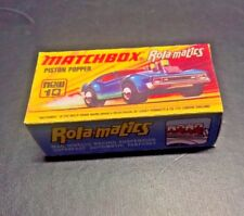 Matchbox Lesney Rola-matics Superfast No10 Piston Popper ,       Custom Box ONLY