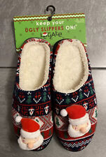 Legale Ugly Christmas Santa Sweater Slippers Mens Medium 9/10 Party Shoes New