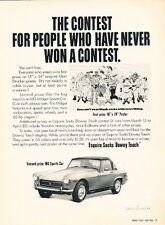 1970 MG Midget Contest Promo Original Advertisement Print Art Car Ad J583