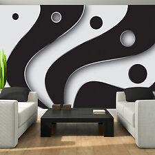 Fototapete schwarz weiß Abstrakt Wohnzimmer Tapete XXL Wandtapete Wandbilder 27