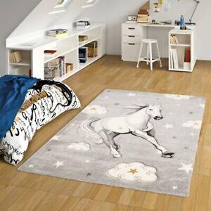 Kinder Teppich Maui Kids Pferd Grau Sterne