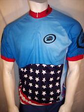 Performance Bicycle XL Poly Stars & Stripes Cycling Bike Jersey