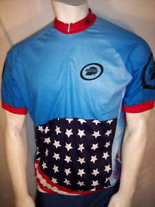 Performance Bicycle XL Poly Stars & Stripes Cycling Bike Jersey