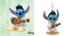 2003 Hallmark Rock 'N' Roll Stitch Ornament + 2011 Disney Store Elvis Ornament