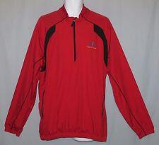 Men's Adidas ClimaProof Windbreaker Pullover Jacket Size XL 1/2 Zip Red Golf