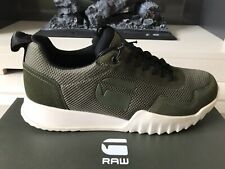 G-Star RAW Rackam Rovic Mens Trainers  Sneakers Combat Green Leather Mesh Mix
