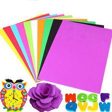10 Sheets Handmade A4 Sponge EVA Foam Kids Craft DIY Thick Multicolor Paper Gift
