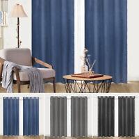 Embossed Blackout Room Darkening Grommet Window Curtains Set of 2 Panels bedroom