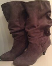 Ladies Next GREY FAUX SUEDE Boots Size 8 EUR 42