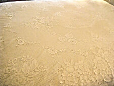 "Sweet Lace Tablecloth Stunning Floral Design Vanilla Cream Off-White 64""x80"" TC1"