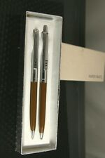 Papermate Profile Brown Slim Ballpoint Pen &  Pencil Set New In Box Made In Usa