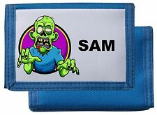 Billetera Monedero Personalizado ZOMBIE/* Negro/Azul/Rosa/Rojo * mayzie Diseños ®