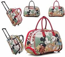 Mickey Mouse Trolley Holdall Bag Girls Minnie Mouse Hand Luggage Travel Handbag
