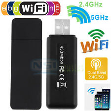 Dual Band 600Mbps Wireless USB WiFi Network Adapter LAN Card 802.11AC 5Ghz 2.4G