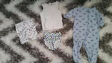 H&M, George & Baby Gap Lot Set 4 one pc Camisole Baby Boy 6-12 Month