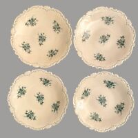 4 Vintage Porzellan Konfekt Teller 13cm VEB Reichenbach Rosen DDR Deko Alt SET