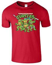 Teenage Mutant Ninja Turtles Mens T-Shirt TMNT Retro Classic Funny Top T Shirt