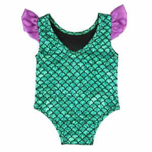 NWT Baby Girl Mermaid Shimmer Green Swimsuit Bathing Suit 6-12 Months