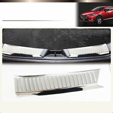 2pcs SUS304 Stainless Steel  Rear Luggage Scuff Trim For MAZDA CX-3 2015-2017