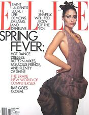 ELLE February 1992 Brenda Schad Model Yves Saint Laurent Ines de la Fressange