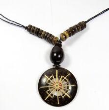 Halskette 100% Natur Anhänger Holzkette Ökoschmuck  Damenkette UNISEX Indio