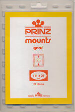 Prinz Scott Stamp Mounts Size 111/25 CLEAR Background  Pack of 25
