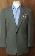 Armani Collezioni Men's Stone & Black Check Blazer Sport Coat 40R 40 Regular