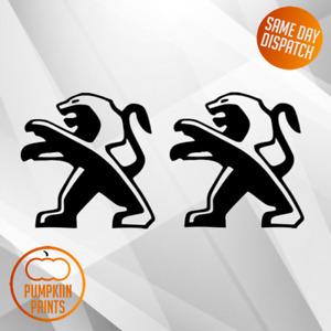 X2 Peugeot logo Bumper Vinyl Decal car Stickers gt line gti colour choices