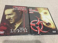 Drew's Famous 2 Set DVD VIDEO MOVIE classics Bela Lugosi-Transparent Man