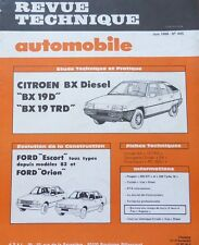 NEUF Revue technique CITROEN BX 19 D TRD DIESEL RTA 445 1984 FORD ESCORT + ORION