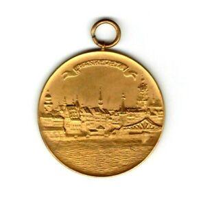 Frankfurt 1929 Medal Unc City View Festival Gilt Germany German State 50mm!